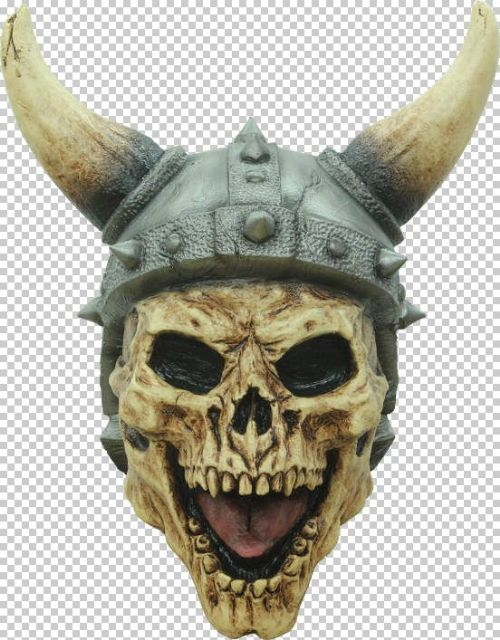 Mask Head Skull Viking Design Guillotine Halloween Zombie Body Prop